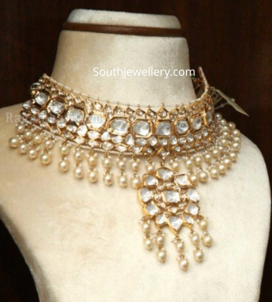 polki diamond necklace by manepally