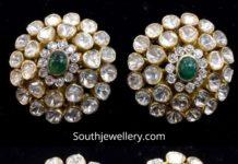 polki emerald stud designs