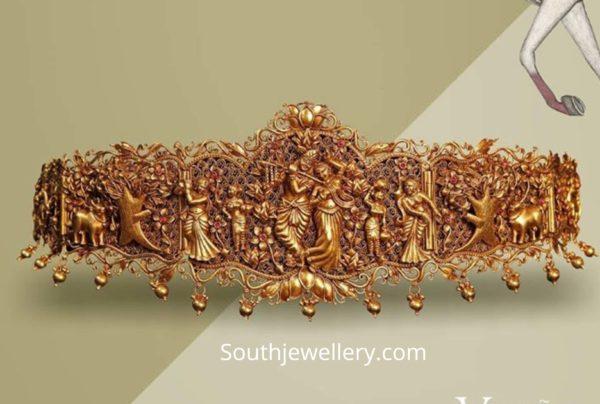 radha krishna temple jewelry vaddanam