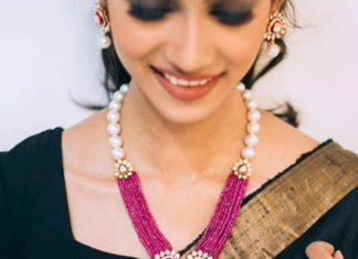 ruby beads and polki necklace (1)