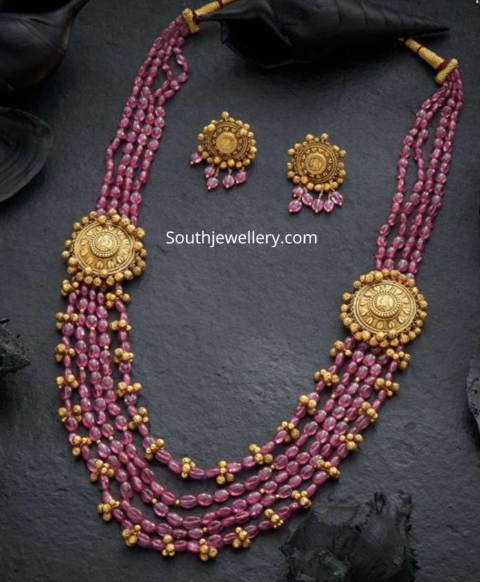 ruby beads long necklace (1)