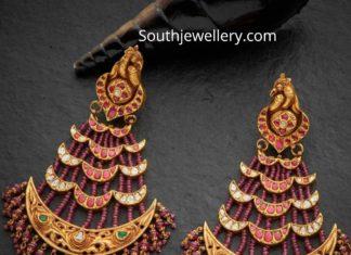 ruby beads passa earrings