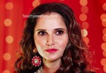 sania mirza kundan polki jewellery at her sister pre wedding (4)