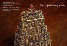 temple gopuram pendant