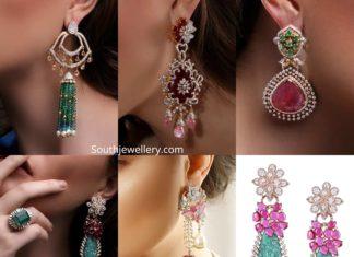 trendy diamond earrings by theia jewellery