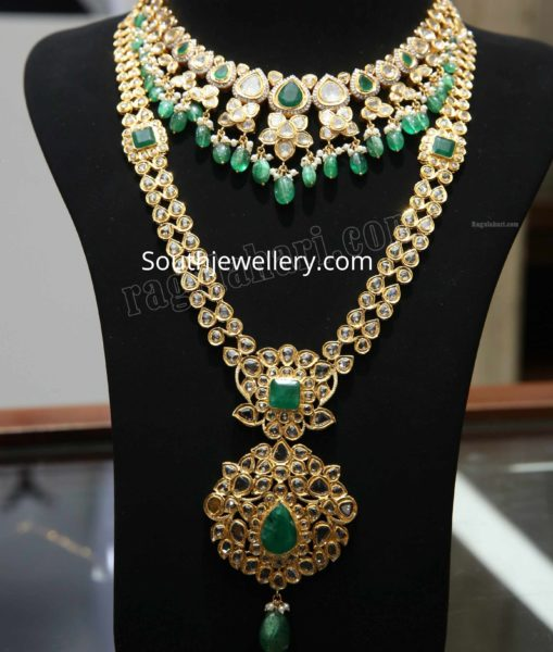 uncut diamond pachi necklace and haram