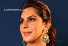 upasana in polki diamond necklace set (1)