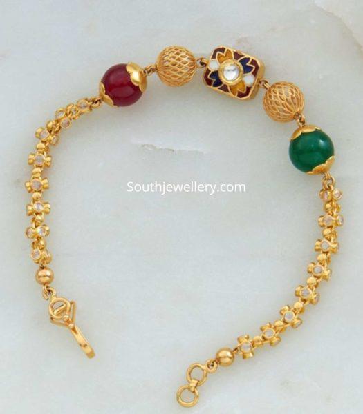 22k gold beads bracelet