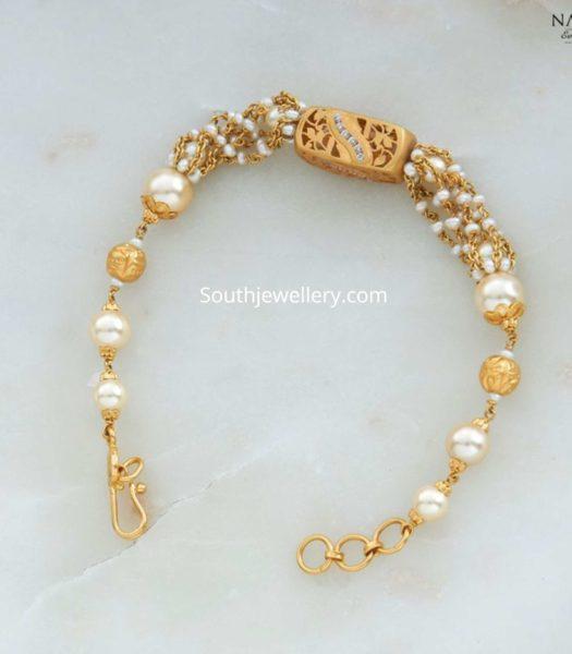 22k gold pearl bracelet