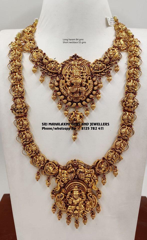 Temple Jewellery Set By Sri Mahalaxmi