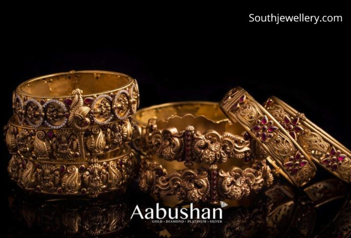 antique gold bangles 22k gold