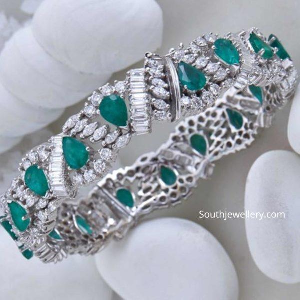 diamond emerald bangle