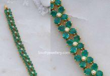 diamond emerald floral bracelet
