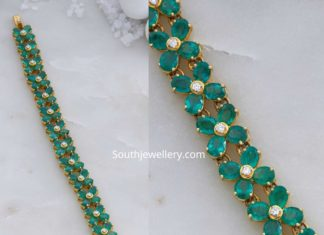 diamond emerald floral bracelet