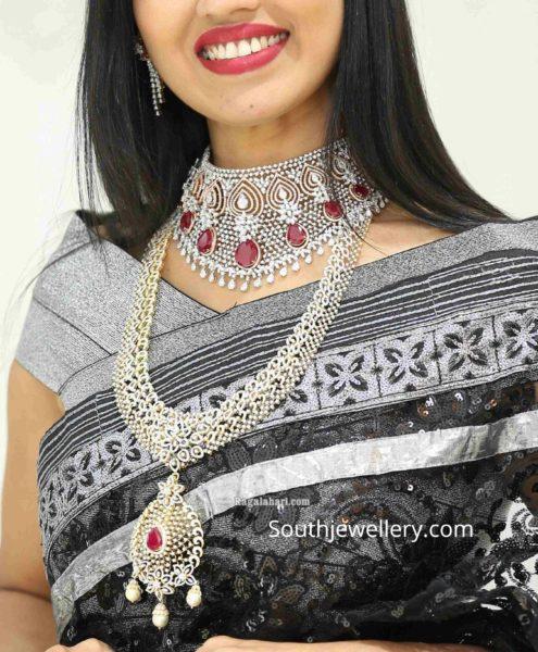 diamond necklace set by manepally (2)