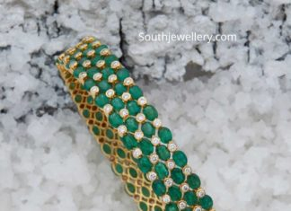emerald diamond bangles