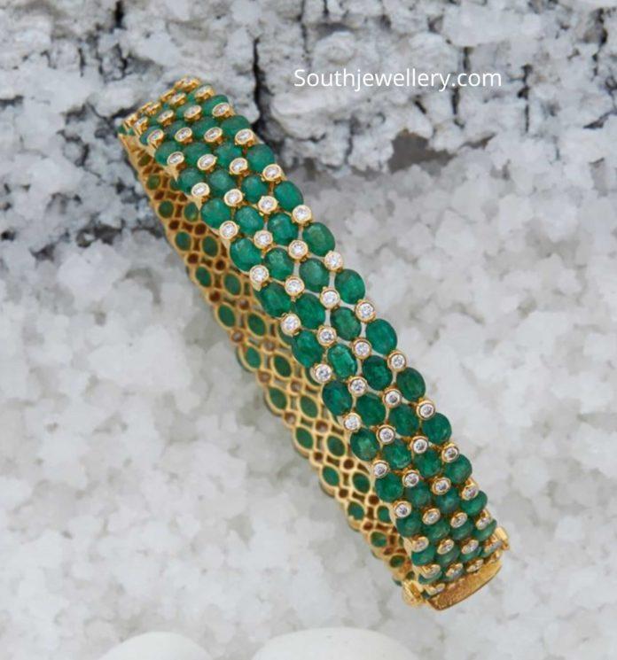 emerald diamond bangles