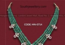 emerald diamond necklace set