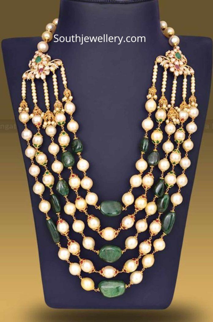 emerald pearl mala
