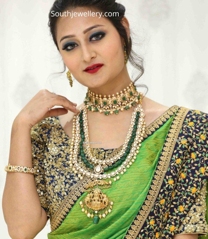 emerald polki jewellery by manepally (1)