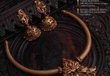 kante gold necklace and erarings