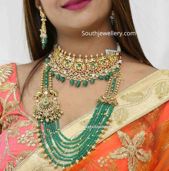 kundan choker and emerald haram (1)