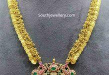 lakshmi kasu haram with kundan pendant