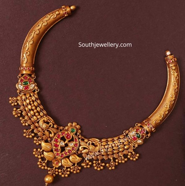 latest traditional kante gold necklace designs (3)
