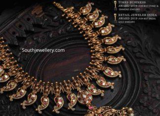 peacock mango haram by aabushan jewellery