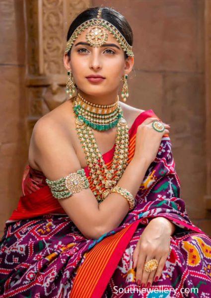polki emerald jewellery set by jatin mor jewellers (2)