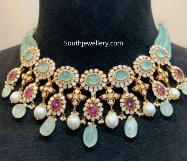 polki necklace and pearl haram (1)