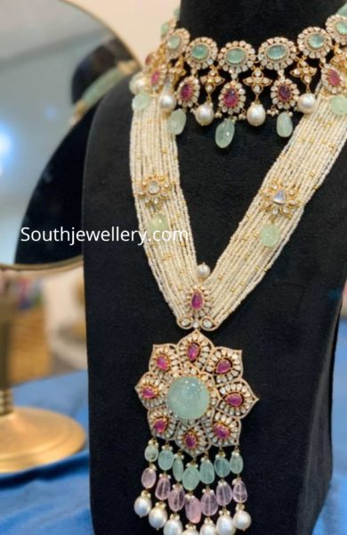 polki necklace and pearl haram