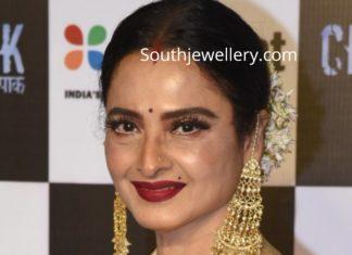 rekha in pearl passa earrings
