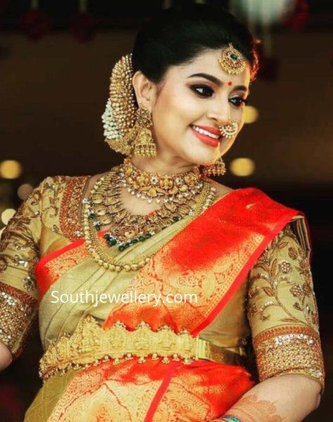 actress sneha prasanna seemantha valaikaapu jewellery