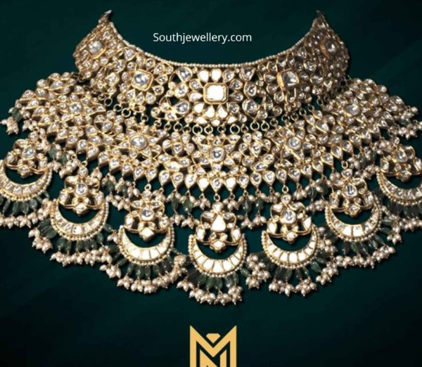 bridal uncut diamond choker mangatrai neeraj
