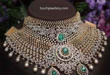 bridal diamond emerald choker
