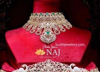 diamond choker and vaddanam