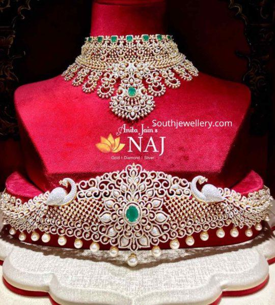 diamond choker and vaddanam