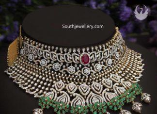 diamond choker by pmj jewels