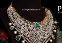 diamond emerald choker for brides pmj