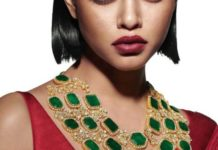 emerald polki necklace sabyasachi jewelry