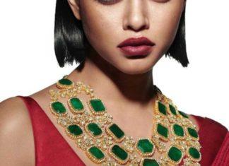 emerald polki necklace sabyasachi jewelry