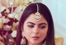 isha ambani in polki jewellery by sabyasachi