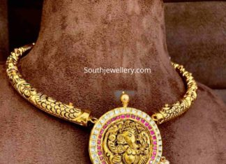 kante necklace with ganesh pendant