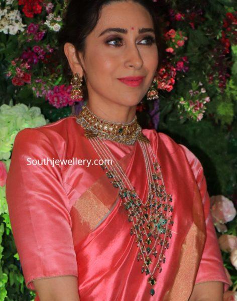 karisma kapoor in traditional gold jewellery kundan necklace satlada haar (1)