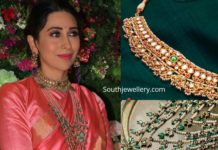 karisma kapoor jewellery at armaan jain wedding