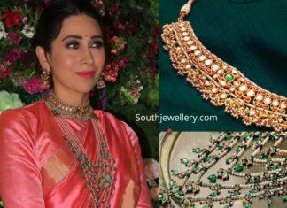 karisma kapoor jewellery at armaan jain wedding