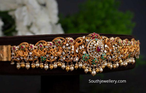 latest gold vaddanam designs