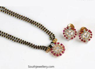 nallapusalu necklace with ruby diamond pendant