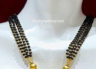 nallapusalu necklace with lakshmi gold pendant